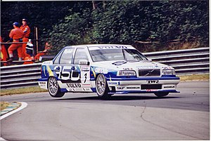 Rickard Rydell - Rydell driving for Volvo in the 1996 British Touring Car Championship.