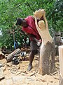 Right Mukore carving a tree into a woman lifting a heart at Montebello Bibiloucapetown Essay Photo x11 IMG 1049.jpg