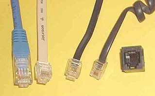 Modular connector Electrical connector commonly used in telephone and computer networks