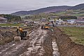 Road construction at E15 by Rudshøgda, Hedmark, Norway.jpg