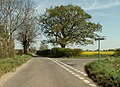 Road junction, just east of Tannington - geograph.org.uk - 407254.jpg