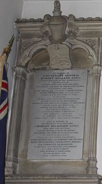 Memorial in St Laurence Church, Seale