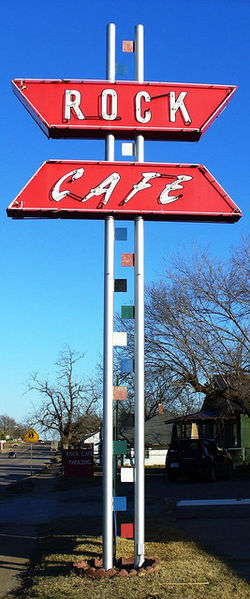 Rock Cafe in Stroud, Oklahoma. Rock Cafe Oklahoma.jpg