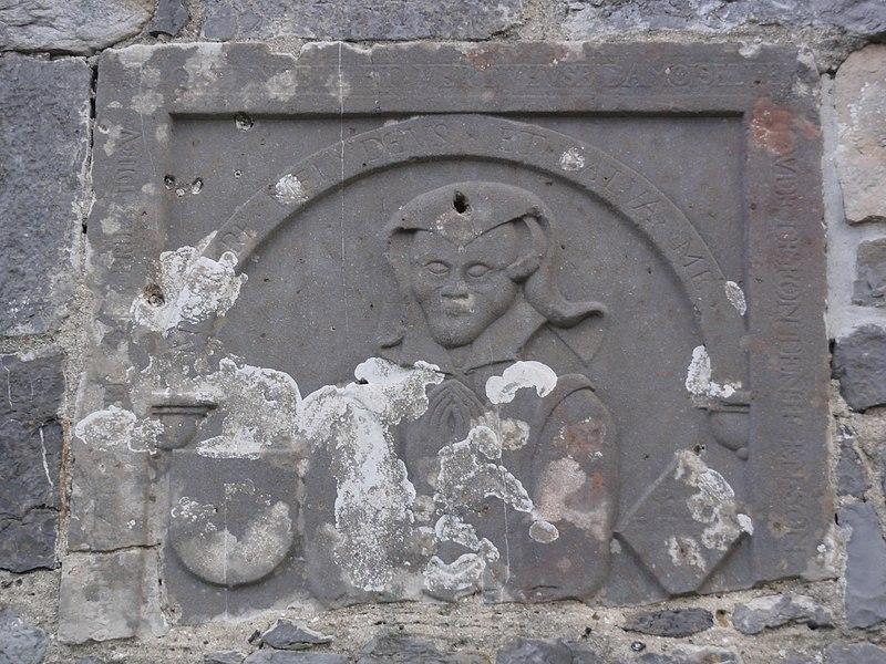 Rocquigny (Aisne) church, gravestone