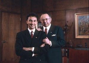 Rodney Adler - Rodney Adler and his father Larry Adler, 1988
