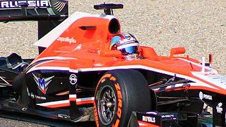 Rodolfo González - González testing at the 2013 Italian Grand Prix.