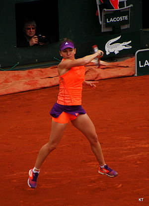 2014 WTA Finals - Simona Halep reached her first slam final at the French Open.