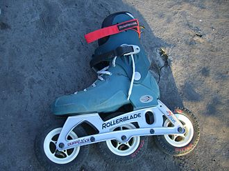 Rollerblade - A rollerblade skate