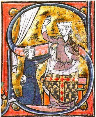 Heart (symbol) - The earliest known visual depiction of a heart symbol, as a lover hands his heart to the beloved lady, in a manuscript of the Roman de la poire'mid-13th century.