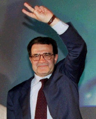 Romano Prodi - Romano Prodi during the electoral campaign in 1996.
