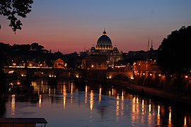 Rome at night.