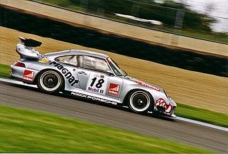 Porsche 911 GT2 - Roock Racing Porsche 993 GT2 at Donington in 1997.