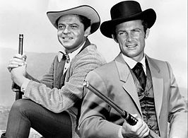 Publiciteitsfoto van Ross Martin en Robert Conrad voor The Wild Wild West (1965)