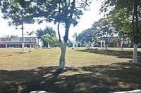 Rotatória na entrada de Belo Oriente MG.JPG