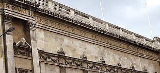 Royal Institute of Painters in Water Colours - Detail of Picadilly premises