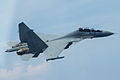 Royal Malaysian Air Force Sukhoi Su-30MKM over the South China Sea in May 2015.JPG