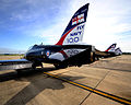 Royal Navy Hawk Aircraft with Fly Navy 100 Livery MOD 45150213.jpg