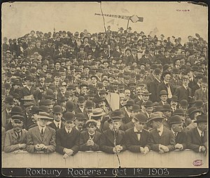 Royal Rooters - The Boston Rooters attended games at the Huntington Avenue Grounds.