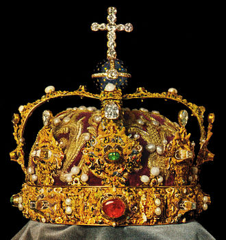 Regalia of Sweden - The Crown of Eric XIV, as it appeared before a later 20th century restoration to its original 16th century appearance.