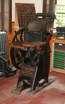 Golding Pearl Letterpress Used By The Roycrofters
