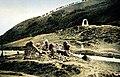 Ruinas de la capilla de San Salvador de Ibañeta hacia 1934.jpg