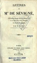 Marquise de Sévigné: Lettres choisies