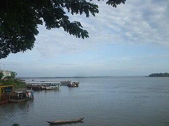 Tiền River - The river Tiền as it flows through Tân Châu (An Giang)