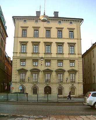 Skeppsbron - Eastern façade of Södra Bankohuset.