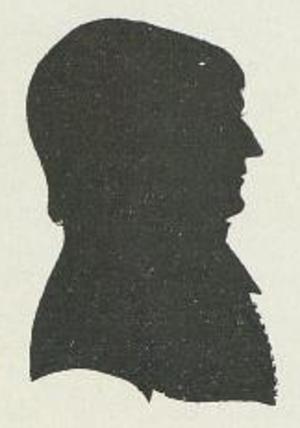 Søren Georg Abel - A Silhouette portrait of Abel