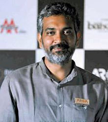 A photograph of S. S. Rajamouli looking towards the camera