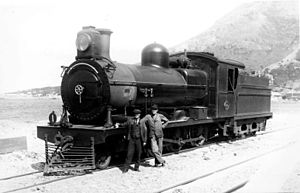 South African Class 6A 4-6-0 - SAR no. 444 with a Belpaire firebox, near Clovelly, c. 1930