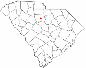 Winnsboro, South Carolina - Image: SC Map doton Winnsboro