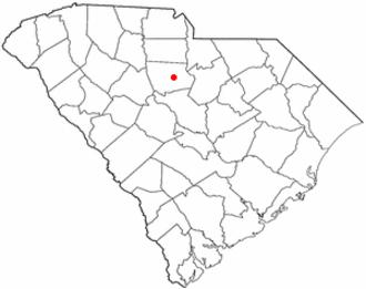 Winnsboro, South Carolina - Image: SC Map doton Winnsboro