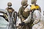 SPMAGTF-CR-AF Marines & Spanish firefighters conduct vehicle extrication training 160427-M-QM580-003.jpg