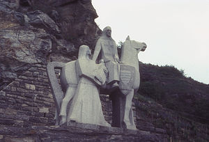 Blondel de Nesle - Statue of Blondel near Durnstein