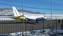 Saab 340 at Isfana Airport.jpg