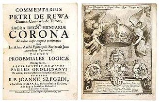 Péter Révay - De Sacra Regni Hungariae Corona