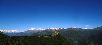 Susa Valley - Saint Michael's Abbey and the Alps of Susa Valley.