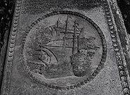 Sadras fort Coat of Arms at graveyard