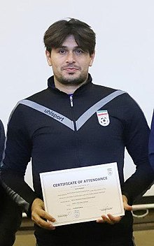 Saeid Daghighi in Asian B degree coaching Classes, Tehran, December 2019 (cropped).jpg
