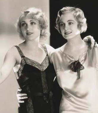 Carole Lombard - Lombard (left) with Josephine Dunn in Safety in Numbers (1930)