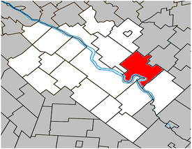 Location within Drummond Regional County Municipality.