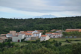 The village of Saint-Martin-de-Fenouillet, with the Canigou in the background