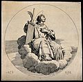 Saint Laurence of Rome. Etching by S.G. after A. Carracci. Wellcome V0032505.jpg