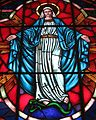 Saint Nicholas Catholic Church (Zanesville, Ohio) - stained glass, rose window, Immaculate Conception detail.jpg