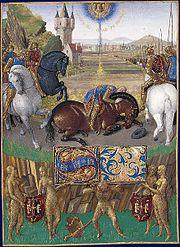 Saint Paul's conversion, by Jean Fouquet.