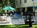 Saint Simons Inn by the Lighthouse, Swimming pool and fountain.JPG