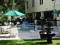 Saint Simons Inn by the Lighthouse, Swimming pool and fountain.JPG