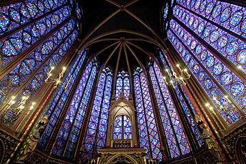 Intérieur de la Sainte Chapelle (wikipedia)