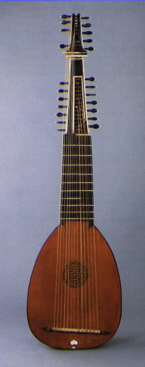 Archlute - Archlute by Matteo Sellas, 17th Century.